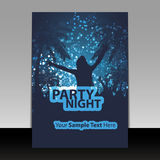 Flyer Design - Party Time Stock Photography
