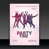 Flyer Design - Party Time Stock Photo