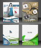 Flyer Design Stock Photo