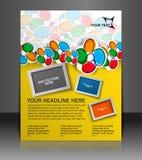 Flyer design Royalty Free Stock Photo