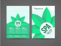 Flyer design spa Royalty Free Stock Photo
