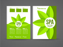 Flyer design spa Stock Photography