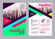 Colorful flyer design template. Brochure Layout design. Flyer design template. Annual Report Leaflet cover Brochure Layout. Presentation Modern background Royalty Free Stock Photography