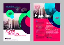Colorful flyer design template. Brochure Layout design. Royalty Free Stock Photography
