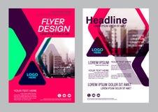 Colorful flyer design template. Brochure Layout design. Stock Images