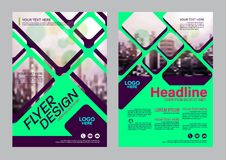 Colorful flyer design template. Brochure Layout design. Stock Photography