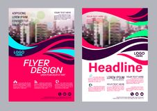 Colorful flyer design template. Brochure Layout design. Royalty Free Stock Images