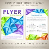 Flyer Design Template Stock Images