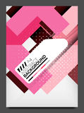 Flyer design template, business web layout Royalty Free Stock Images