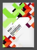 Flyer design template, business web layout Stock Photos