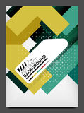 Flyer design template, business web layout Stock Photography