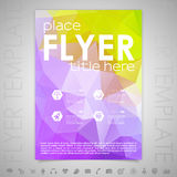 Flyer Design Template Stock Photography