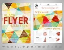 Flyer Design Template Stock Photos