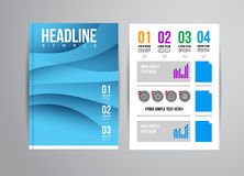 Flyer design template Royalty Free Stock Photography