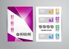 Flyer design template Stock Image