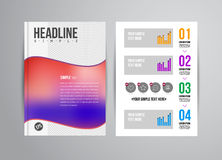 Flyer design template Royalty Free Stock Image