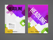 Flyer design template Royalty Free Stock Images