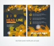 Flyer Design Templates Abstract Geometric Orange Stock Image