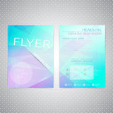 Flyer design Triangle template layout , magazine Stock Photos