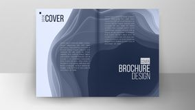 Flyer Design Vector. Abstract Cut Paper.Layout With Modern Elements. Ilustration Stock Photo