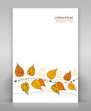 Flyer with floral decoration. Template with floral decoration. For flyer, cover or others stock illustration