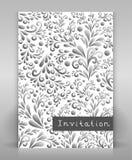 Flyer with floral design. Editable flyer or poster design Vector Illustration