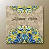 Flyer with Floral mandala pattern and ornaments. Oriental design layout template,. Vector Stock Images