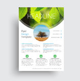 Flyer format A4 format with round and semicircular elements for Stock Photo