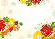 Flyer with fowers. Abstract background with fantastical fowers. Vector Royalty Free Stock Photos