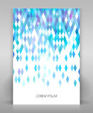 Flyer with geometric design Royalty Free Stock Photography