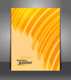 Flyer graphic design with stripes Royalty Free Stock Image