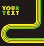 flyer green lines template Στοκ εικόνες με δικαίωμα ελεύθερης χρήσης