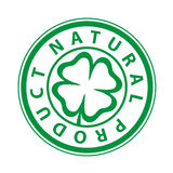 Mark Printing of the natural product. Flyer  green logo of the natural product Stock Photo