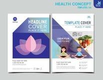 Flyer health leaflet brochure template A4 size design stock illustration