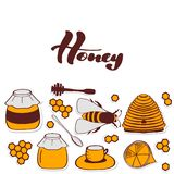 Flyer for honey shop. Nice stock illustration