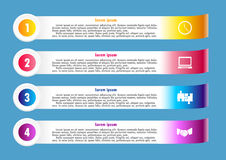 Flyer infographic for business royalty free illustration