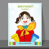 Flyer or invitation for Birthday celebration. Stock Images