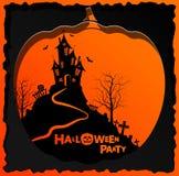 Flyer invitation to celebrate Halloween.  Royalty Free Stock Photos