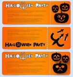 Flyer invitation to celebrate Halloween. Horizontal arrangement. A party in a club, a cafe or a festival. Orange and black colors Royalty Free Stock Photography