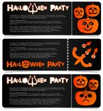 Flyer invitation to celebrate Halloween. Horizontal arrangement. A party in a club, a cafe or a festival. Orange and black colors Stock Images