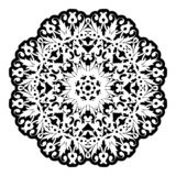 Flyer laser cut a mandala. Cut paper card with lace pattern. Wedding invitations, postcards and business cards templates. Decorative cards for laser cutting vector illustration