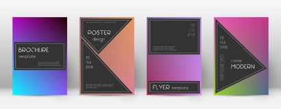 Flyer layout. Black adorable template for Brochure royalty free illustration