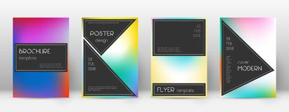 Flyer layout. Black appealing template for Brochure, Annual Report, Magazine, Poster, Corporate Presentation, Portfolio, Flyer. Actual bright cover page Stock Images