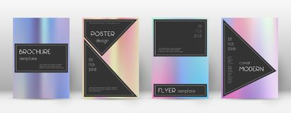 Flyer layout. Black lively template for Brochure, royalty free illustration