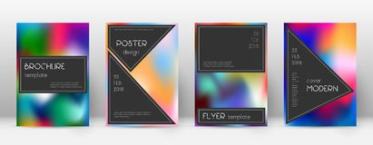 Flyer layout. Black stunning template for Brochure royalty free illustration
