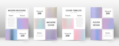 Flyer layout. Business alluring template for Brochure, Annual Report, Magazine, Poster, Corporate Presentation, Portfolio, Flyer. Alive pastel hologram cover Stock Images