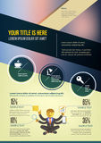 Flyer Layout Design Template. With illustration Royalty Free Illustration