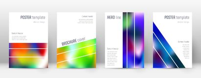 Flyer layout. Geometric artistic template for Brochure, Annual Report, Magazine, Poster, Corporate Presentation, Portfolio, Flyer. Alluring colorful cover page Royalty Free Stock Images