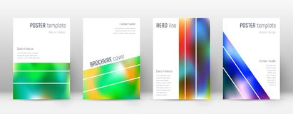 Flyer layout. Geometric astonishing template for Brochure, Annual Report, Magazine, Poster, Corporate Presentation, Portfolio, Flyer. Alluring colorful cover Royalty Free Stock Photography