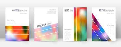 Flyer layout. Geometric attractive template for Brochure, Annual Report, Magazine, Poster, Corporate Presentation, Portfolio, Flyer. Alluring colorful cover Stock Photography
